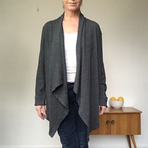 SUNDRY Teal Green Waterfall Front Knit Cardigan L